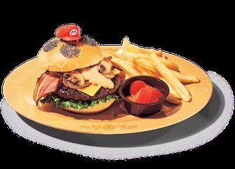 Super Nintendo World burger