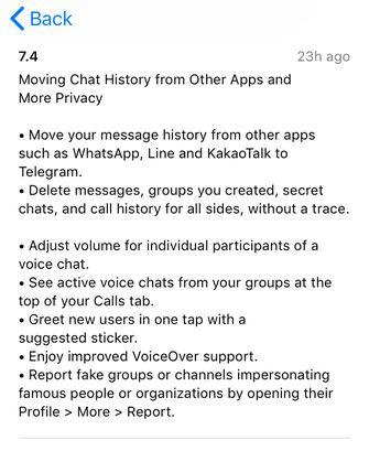Telegram importeren WhatsApp
