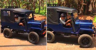 mini Jeep DIY elektrische auto