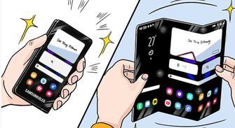 Z-vormige smartphone Samsung