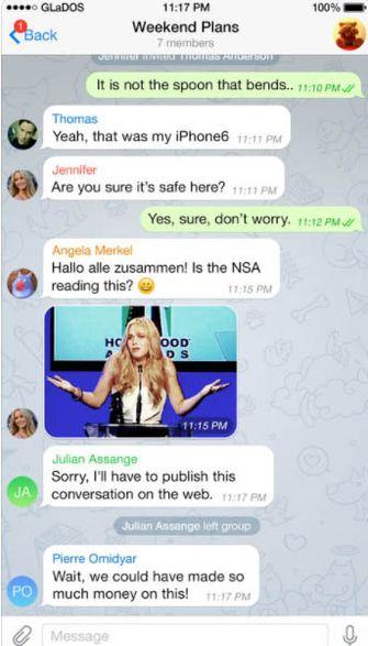 Telegram groepschat