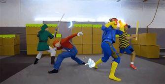 Super Smash Bros stuntmannen Mario