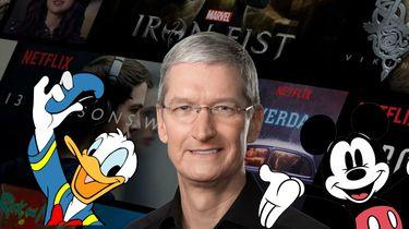 Tim Cook Disney Netflix Apple