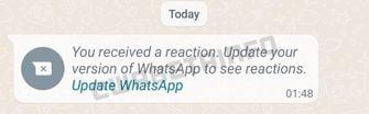 Berichtreacties WhatsApp