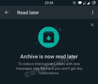 Later lezen WhatsApp